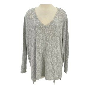 Out From Under Thermal Ribbed Shirt Gray Relaxed